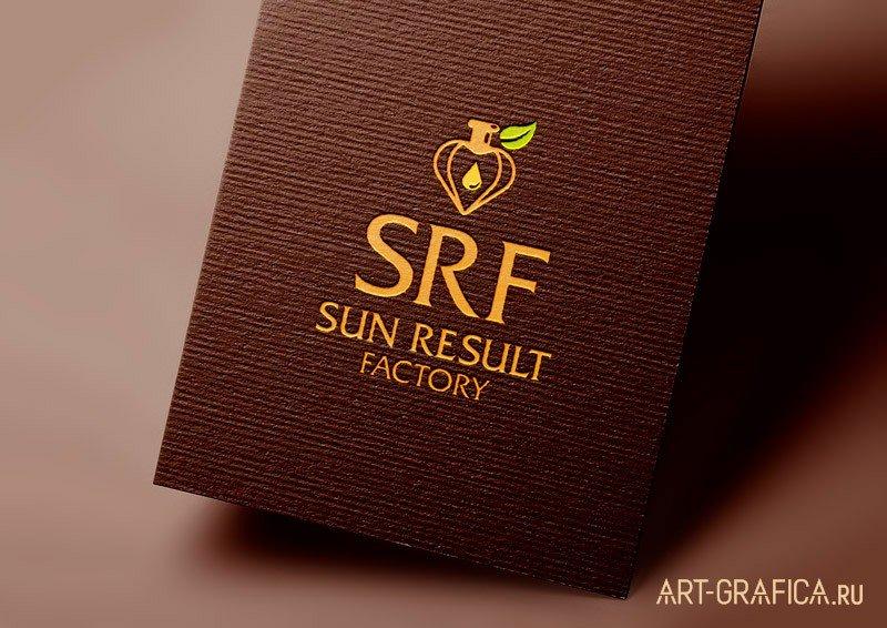 логотип на темном фоне SUN RESULT FACTORY
