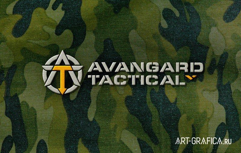 логотип на ткани военная одежда авангард