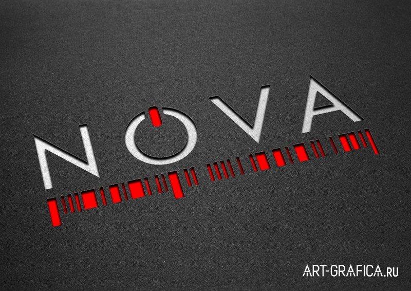 разработка логотипа NOVA контрольно-кассовое оборудование