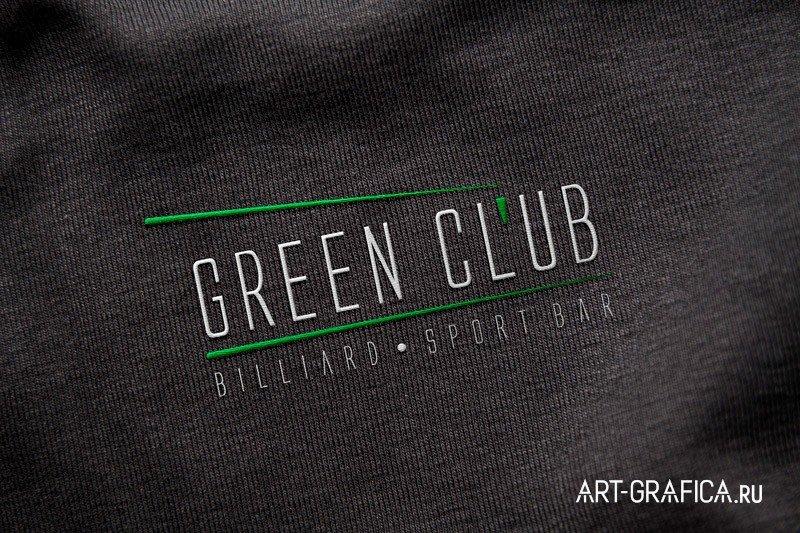 GREEN KLUB логотип на ткани